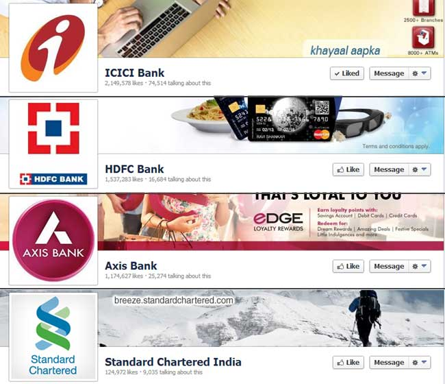 indian banks facebook