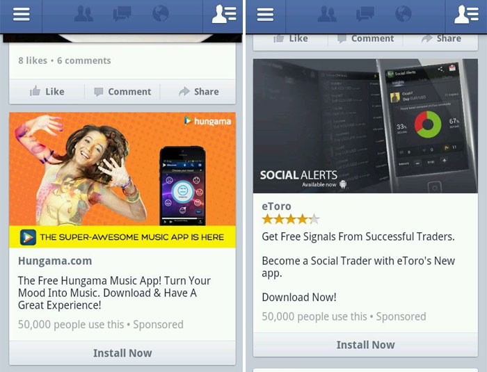 promote mobile app on facebook