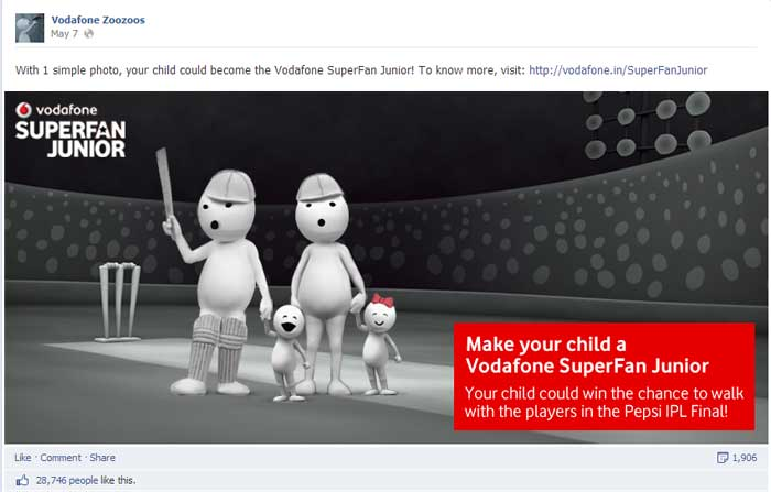 vodafone ipl social media