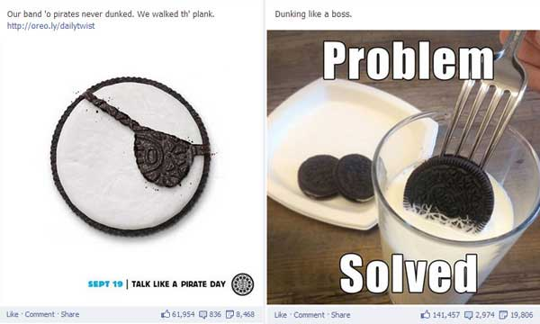 oreo facebook engagement