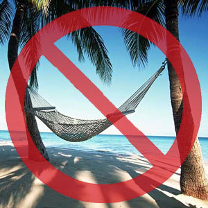no vacations on social media