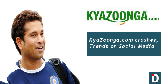 KyaZoonga.com crashes while selling tickets to Sachin's final test
