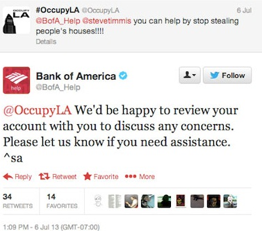 Bank of America Twitter Fail