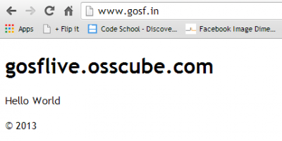GOSF Website Down