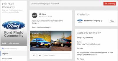 Ford Google+ Community Example