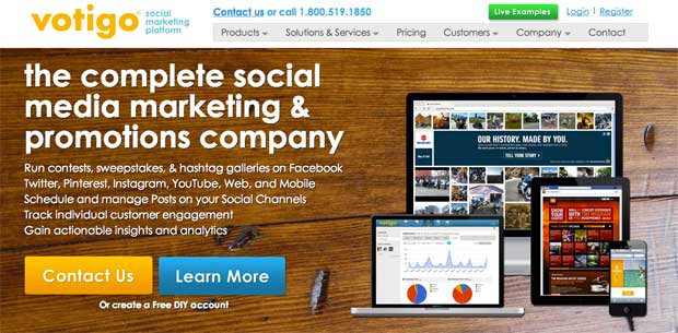 social media contest tool votigo