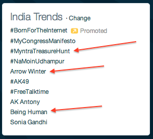 myntra treasure hunt twitter
