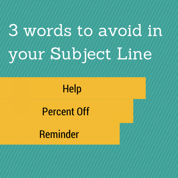 Words to avoid in your email subject line