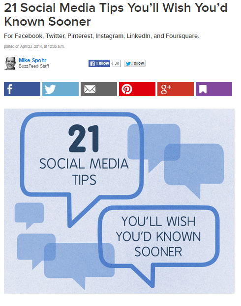 Top blog posts on digital marketing in 2014 - BuzzFeed