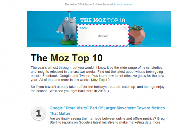 Moz Top 10 Email Digest