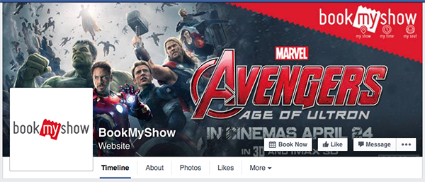 bookmyshow facebook page